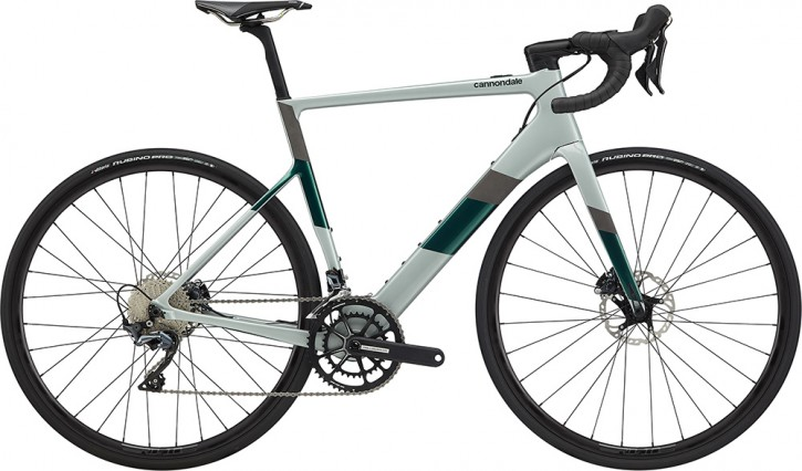 Pedelec Rennrad Cannondale SuperSix Evo Neo 2 - Gr. Medium - Sage Gray